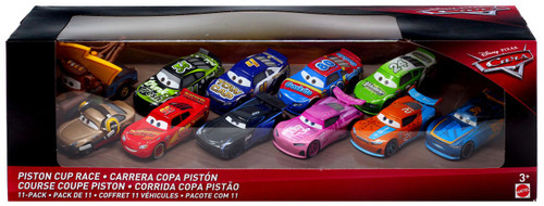 Disney / Pixar Cars Cars 3 Piston Cup Race Diecast Car 11-Pack [Version 2, Damaged Package]