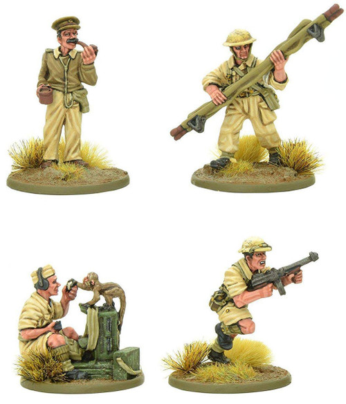 Bolt Action WWII Wargame Allies British 8th Army HQ Miniatures