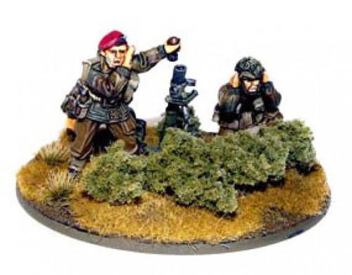 Bolt Action WWII Wargame Allies British Airborne Medium Mortar Team Miniatures