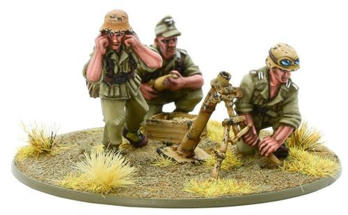 Bolt Action WWII Wargame Axis Afrika Korps Medium Mortar Team Miniatures