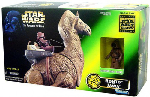 Star Wars Power of the Force Jawa & Ronto Action Figure [Damaged Package]