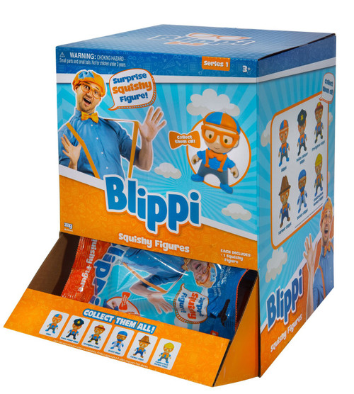 Blippi Series 1 Squishy Figure Mystery Box [24 Packs]