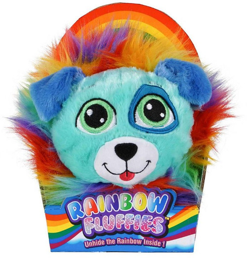 Rainbow Fluffies Blue Puppy 12-Inch Plush