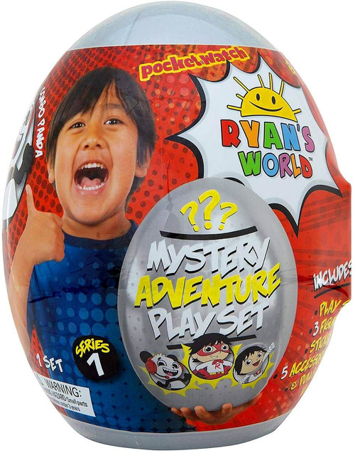 Ryan's World Series 1 Giant Mystery Adventure Egg Play Set Mystery Surprise [Silver]