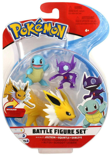 Pokemon Series 3 Battle Figure Jolteon, Squirtle & Sableye 2-Inch Mini Figure 3-Pack