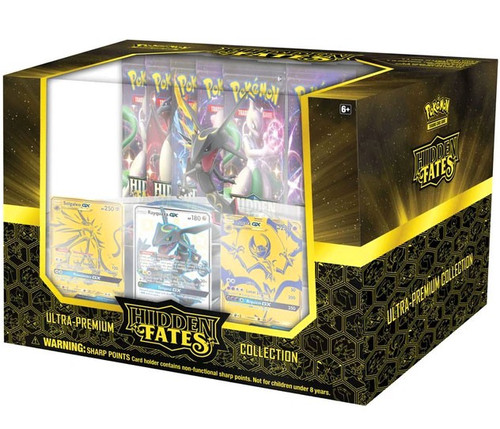 Pokemon Trading Card Game Sun & Moon Hidden Fates Ultra Premium Collection Box [15 Booster Packs, 3 Foil Cards & More]