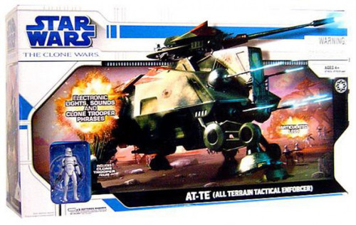 Star Wars The Clone Wars 2008 AT-TE (All Terrain Tactical Enforcer) Action Figure Vehicle [Damaged Package]