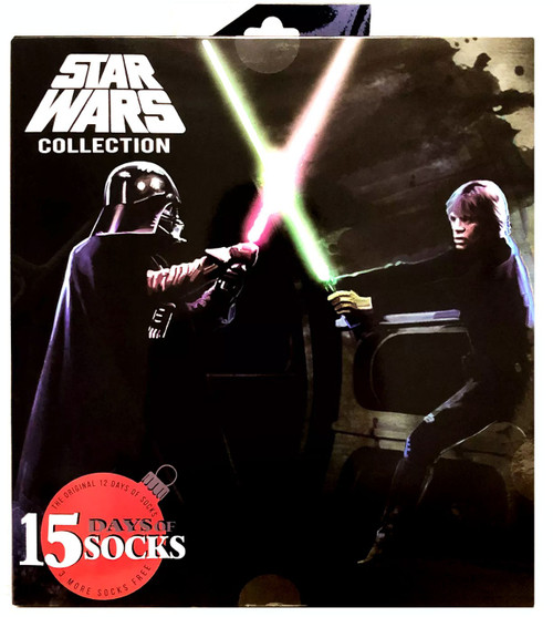 15 Days of Socks Mens Star Wars Exclusive 15-Pack [Shoe Size 6-12, 2019]