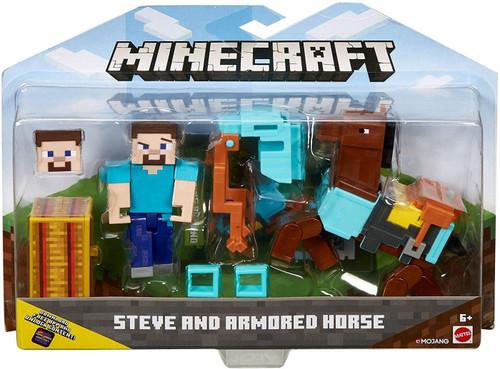 Minecraft Comic Maker Steve & Armored Horse Action Figure 2-Pack