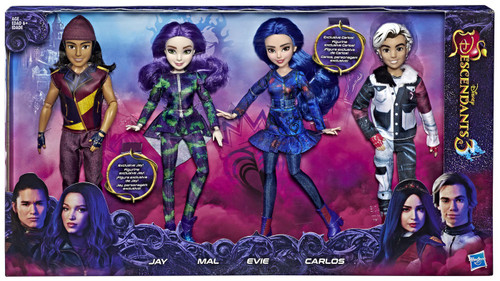 Disney Descendants Descendants 3 Isle of the Lost Collection Doll 4-Pack [Jay, Mal, Evie & Carlos]