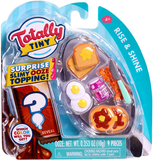 Totally Tiny Fun Rise & Shine Mini Food Play Set [Surprise Slimy Ooze Topping!]