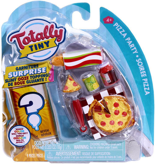 Totally Tiny Fun Pizza Party Mini Food Play Set [Surprise Slimy Ooze Topping!]