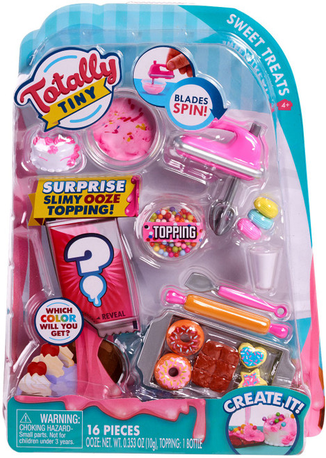 Totally Tiny Fun Cook N Serve Sweet Treats Mini Food Play Set [Surprise Slimy Ooze Topping!]