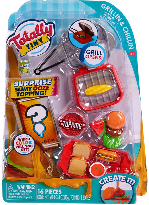 Totally Tiny Fun Cook N Serve Grillin & Chillin Mini Food Play Set [Surprise Slimy Ooze Topping!]