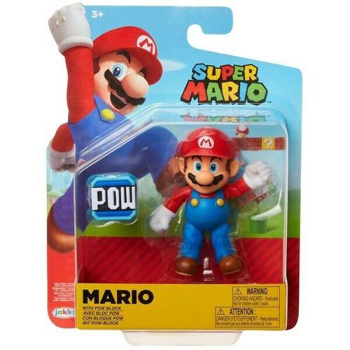 World of Nintendo Super Mario Wave 20 Mario Action Figure [POW Block]