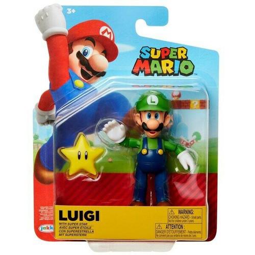 World of Nintendo Luigi with Star Action Figure