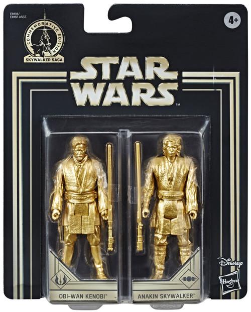 Star Wars Revenge of the Sith Skywalker Saga Obi-Wan Kenobi & Anakin Skywalker Action Figure 2-Pack [Gold Figures]