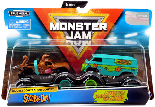 Monster Jam Scooby Doo Double Down Showdown! Scooby-Doo & The Mystery Machine Diecast Car 2-Pack