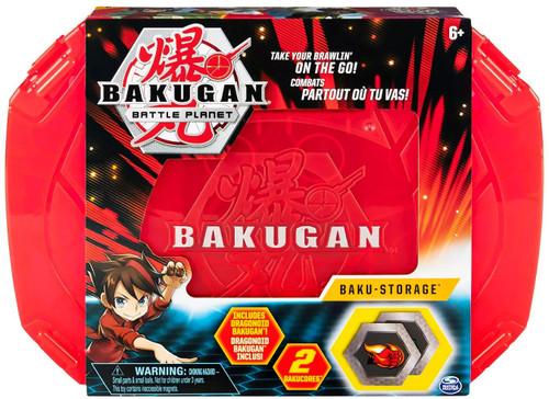 Bakugan Battle Planet Baku-Storage Storage Case [Red, Includes Dragonoid Bakugan]