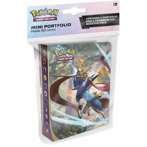 Nintendo Pokemon Trading Card Game Sword & Shield Base Set Mini Portfolio [Includes 1 Booster Pack, Holds 60 Cards]