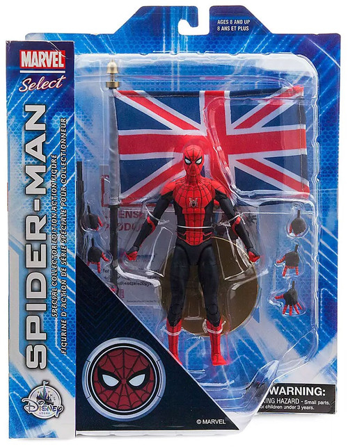 Spider-Man: Far From Home Marvel Select Spider-Man Exclusive Action Figure [with Union Jack]