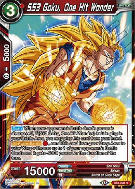 Dragon Ball Super Collectible Card Game Malicious Machinations Rare SS3 Goku, One Hit Wonder BT8-003