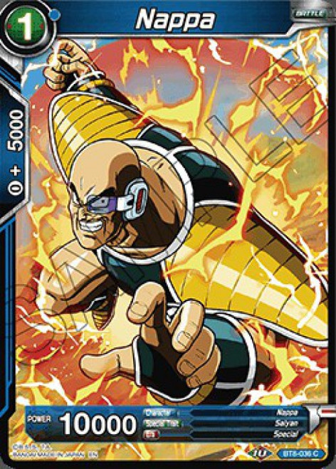 Dragon Ball Super Collectible Card Game Malicious Machinations Common Nappa BT8-036