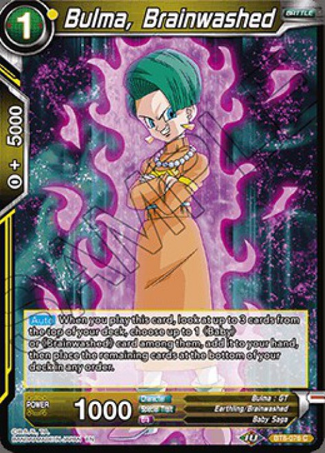 Dragon Ball Super Collectible Card Game Malicious Machinations Common Bulma, Brainwashed BT8-076