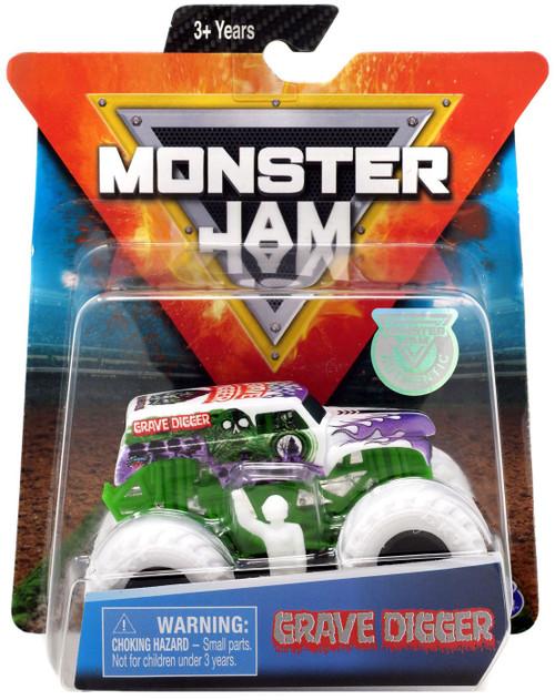 Monster Jam Grave Digger Diecast Car [White]