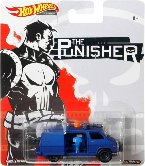 Marvel Hot Wheels Premium Punisher Van Die Cast Car