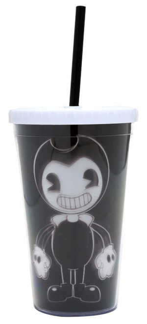 Bendy and the Ink Machine Bendy Lenticular 16 Ounce Travel Cup with Straw