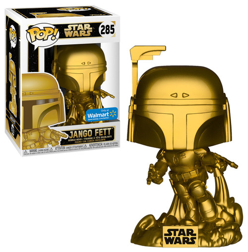 Funko POP! Star Wars Jango Fett Exclusive Vinyl Bobble Head #285 [Gold Metallic, Damaged Package]