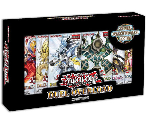 YuGiOh Trading Card Game Duel Overload Box [6 Booster Packs & Oversize Card!]