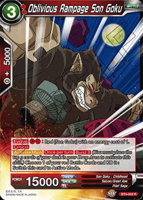 Dragon Ball Super Collectible Card Game Miraculous Revival Rare Oblivious Rampage Son Goku BT5-003