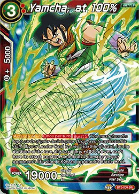 Dragon Ball Super Collectible Card Game Miraculous Revival Super Rare Yamcha, at 100% BT5-009