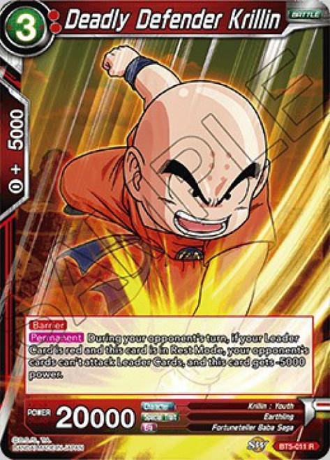 Dragon Ball Super Collectible Card Game Miraculous Revival Rare Deadly Defender Krillin BT5-011