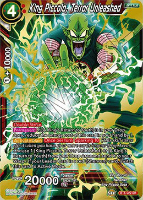 Dragon Ball Super Collectible Card Game Miraculous Revival Super Rare King Piccolo, Terror Unleashed BT5-022