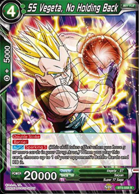 Dragon Ball Super Collectible Card Game Miraculous Revival Rare SS Vegeta, No Holding Back BT5-058