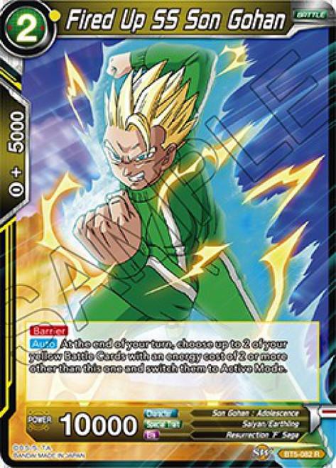 Dragon Ball Super Collectible Card Game Miraculous Revival Rare Fired Up SS Son Gohan BT5-082