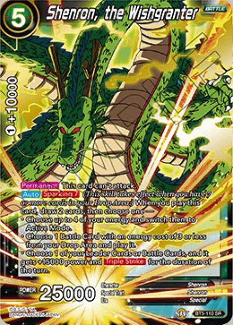 Dragon Ball Super Collectible Card Game Miraculous Revival Super Rare Shenron, the Wishgranter BT5-110