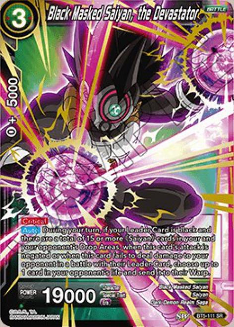 Dragon Ball Super Collectible Card Game Miraculous Revival Super Rare Black Masked Saiyan, the Devastator BT5-111