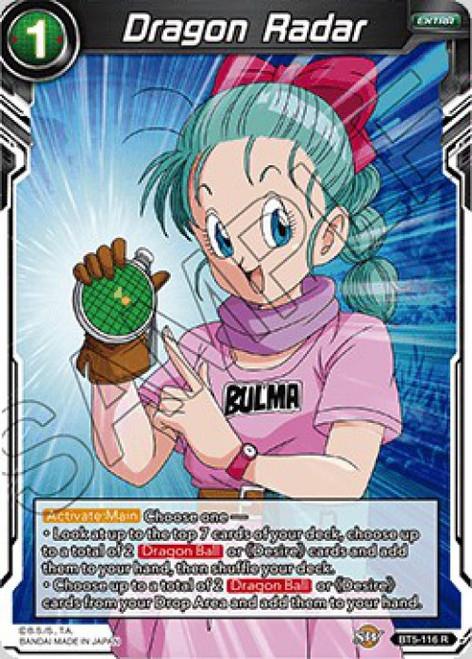 Dragon Ball Super Collectible Card Game Miraculous Revival Rare Dragon Radar BT5-116