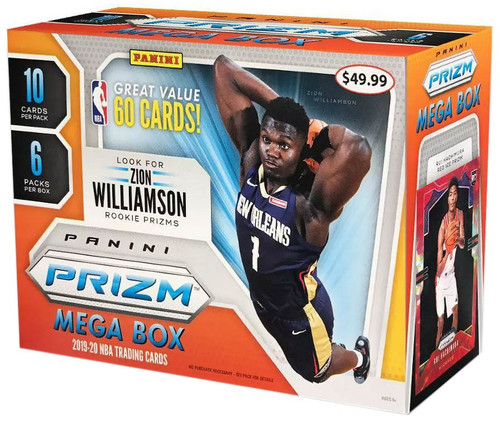 NBA Panini 2019-20 Prizm Basketball Trading Card MEGA Box [6 Packs]