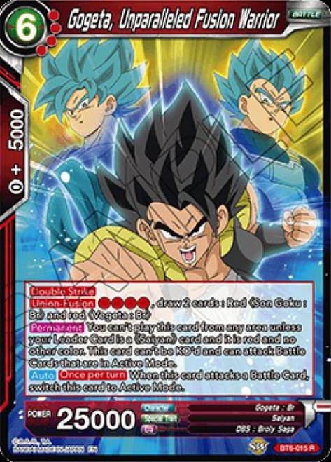 Dragon Ball Super Collectible Card Game Destroyer Kings Rare Gogeta, Unparalleled Fusion Warrior BT6-015