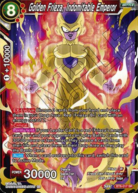 Dragon Ball Super Collectible Card Game Destroyer Kings Super Rare Golden Frieza, Indomitable Emperor BT6-017