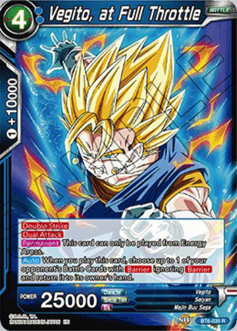 Dragon Ball Super Collectible Card Game Destroyer Kings Rare Vegito, at Full Throttle BT6-035