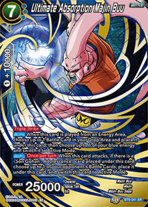 Dragon Ball Super Collectible Card Game Destroyer Kings Super Rare Ultimate Absorption Majin Buu BT6-041