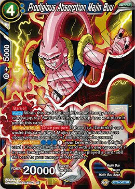 Dragon Ball Super Collectible Card Game Destroyer Kings Super Rare Prodigious Absorption Majin Buu BT6-042