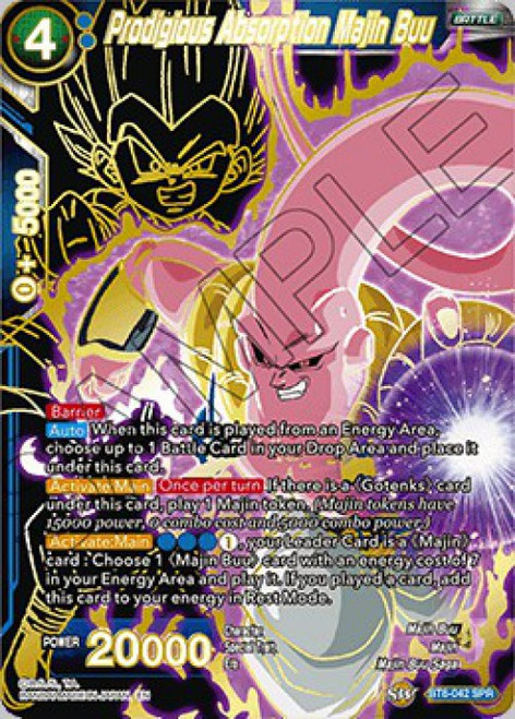 Dragon Ball Super Collectible Card Game Destroyer Kings Special Rare Prodigious Absorption Majin Buu BT6-042_SPR