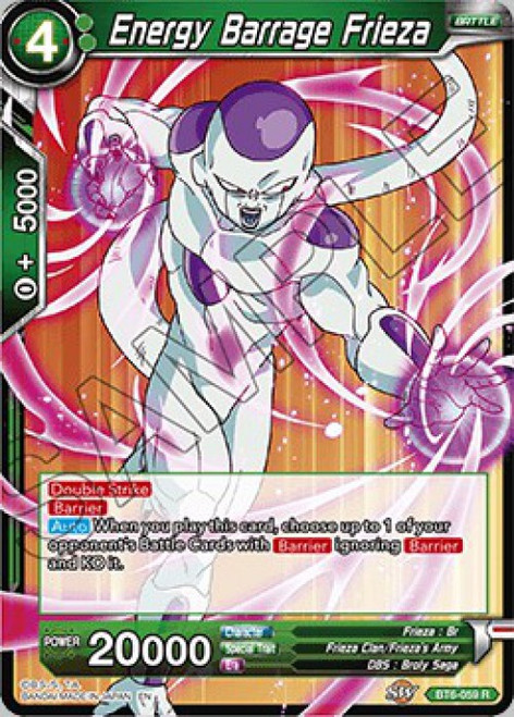 Dragon Ball Super Collectible Card Game Destroyer Kings Rare Energy Barrage Frieza BT6-059
